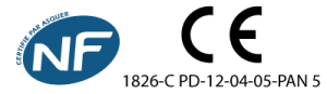 Certification CE + NF complémentaire pour panneaux de signalisation de police gamme Ecolign