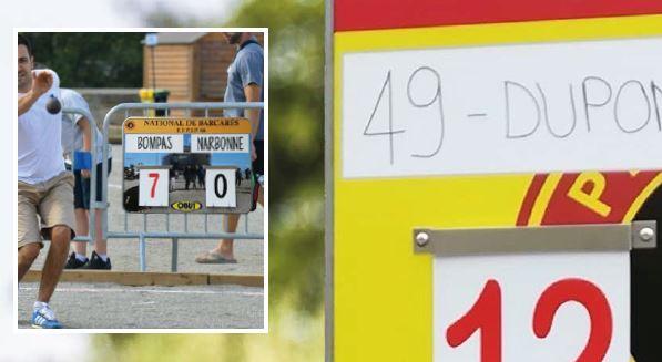 Panneaux affichage score